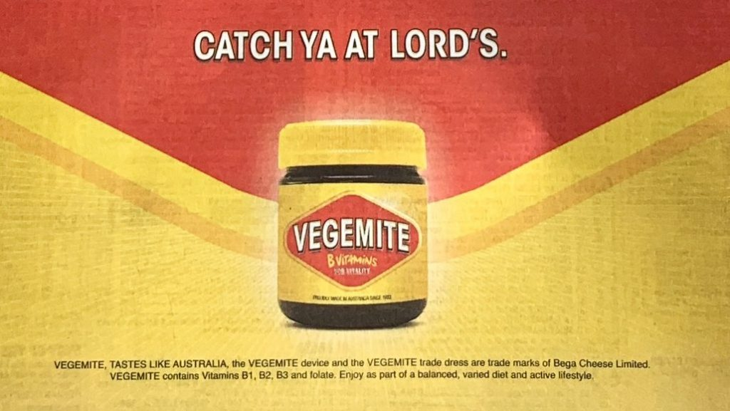 Vegemite Ashes Ad