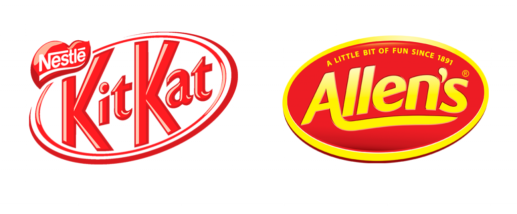 KitKat and Allens logos